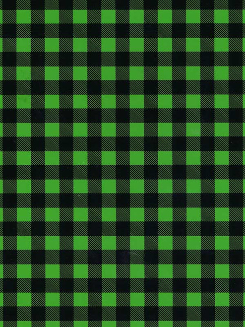THERMOFLEX Patterns Heat Transfer Vinyl Sheet | BUFFALO PLAID GREEN