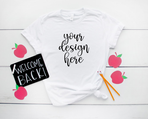 Style #1 Back To School Tee 10 Bella Canvas 3001 Unisex Mock Up/Flat Lays DIGITAL FILE