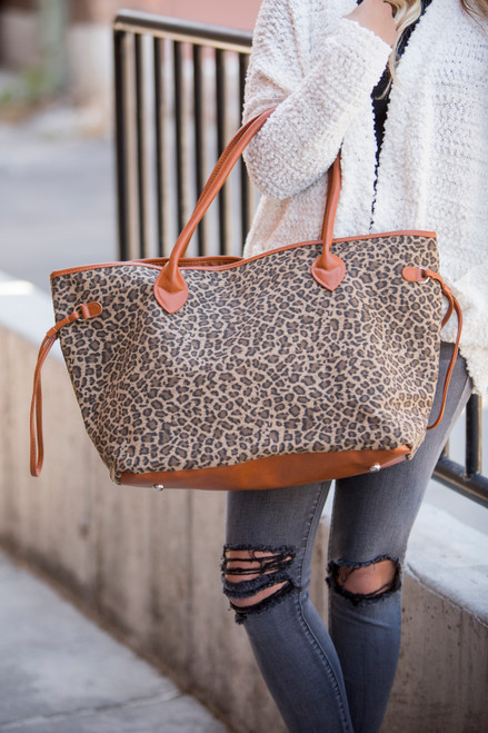 Leopard Never Full Tote