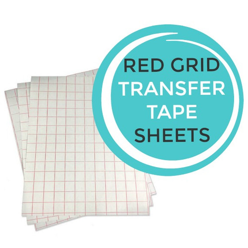 Red Grid Transfer Tape Sheets
