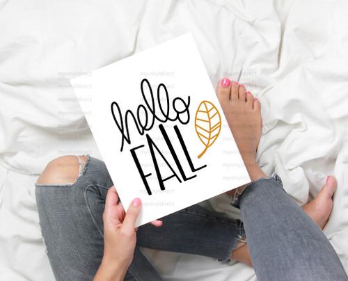 Handwritten Hello Fall Digital Cutting File