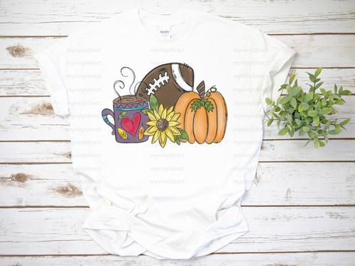 Hot Cocoa, Football, Pumpkins | Cotton Transfer