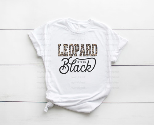 Leopard is the new Black | Cotton Transfer