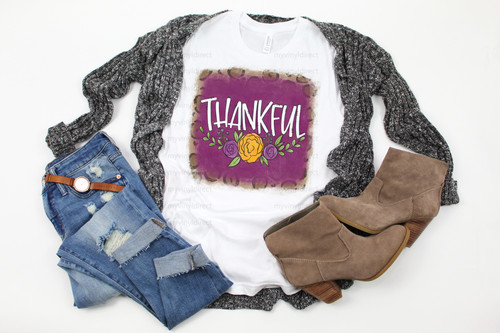 Floral & Leopard Thankful | Cotton Transfer