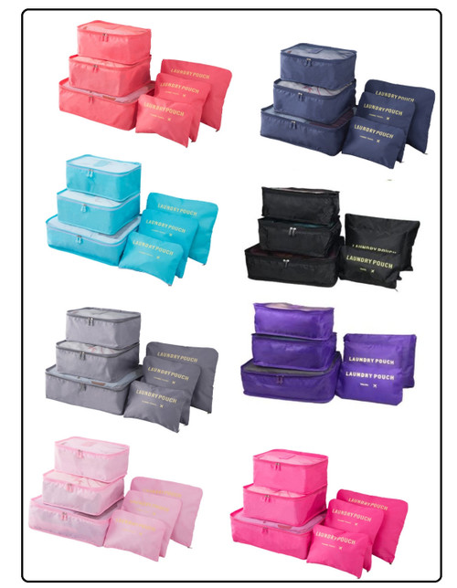 Six Set Luggage Packing Bags