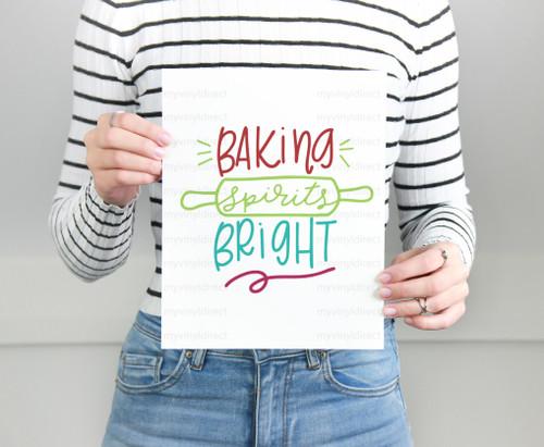 Baking Spirits Bright Digital Cutting File