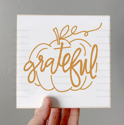 Grateful Pumpkin Digital Cutting File