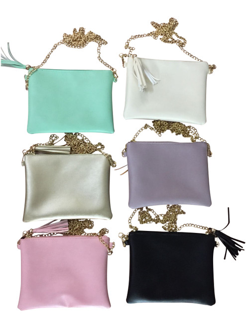 Gold Chain Tassel Crossbody Bags