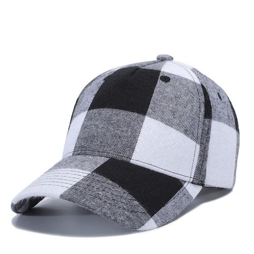 Buffalo Plaid Hat White