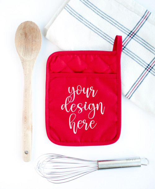 Hot Pad Pot Holder | Mock Up | Red