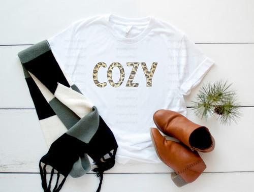 Cozy Leopard   Cotton Transfer