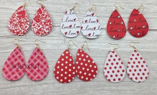 Valentine Tear Drop Earrings