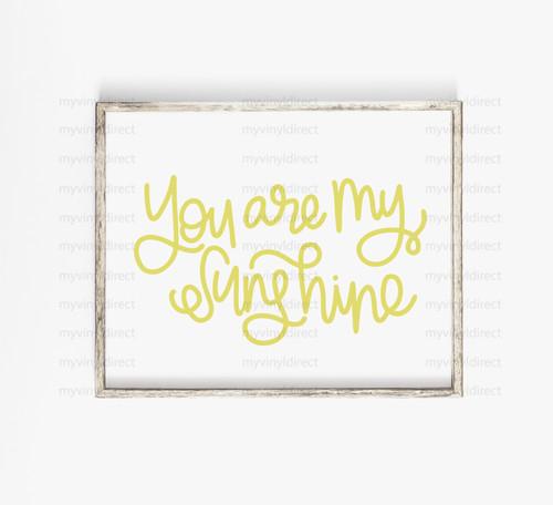 You Are My Sunshine Digital Cutting File