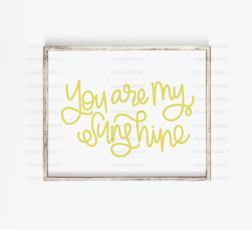 You Are My Sunshine Digital Cutting File
