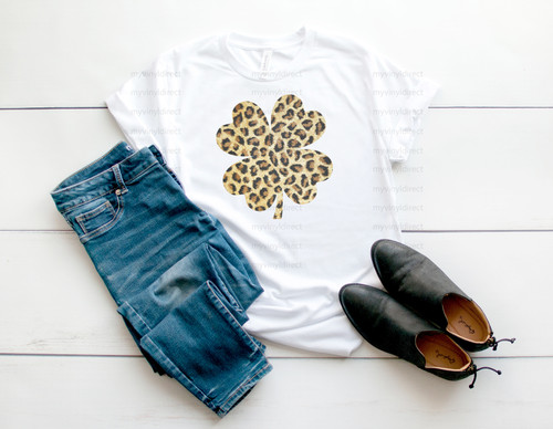 Leopard Clover   Sublimation Transfer