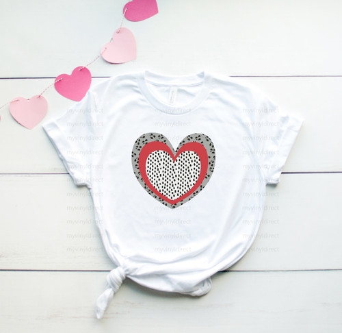 Leopard Layered Heart | Sublimation Transfer