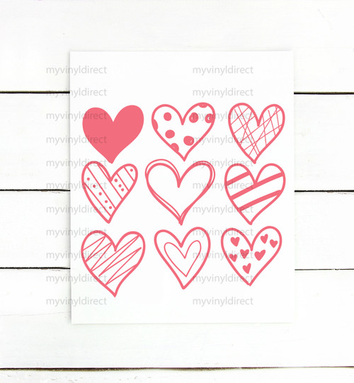 Nine Hearts Digital Cutting File
