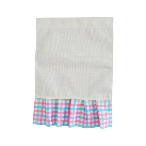 Spring Gingham Ruffled Garden Flag