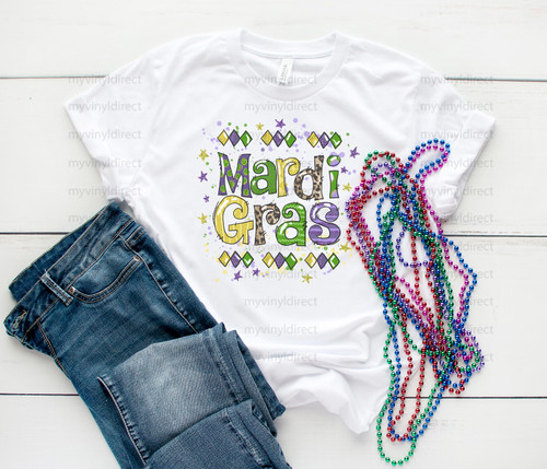 Mardi Gras | Sublimation Transfer