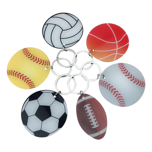 Acrylic Printed Sports Key Chains