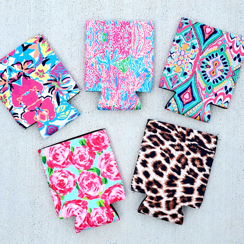 Summer Print Neoprene Can Covers