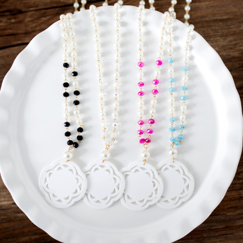 Laser Cut Beaded Necklace