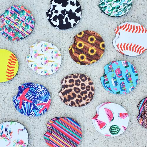 Pattern Car Coasters 2pk