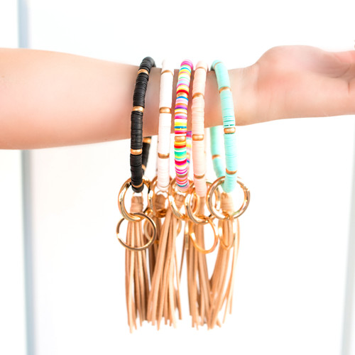 Beaded Key Ring Bracelets
