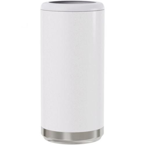 Skinny Can Cooler | White Glitter