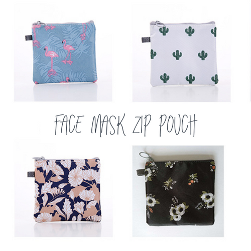 Face Mask Zip Pouch