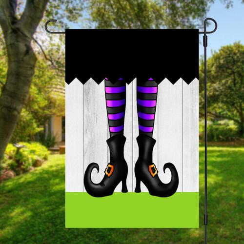 Witch Legs Halloween Garden Flag