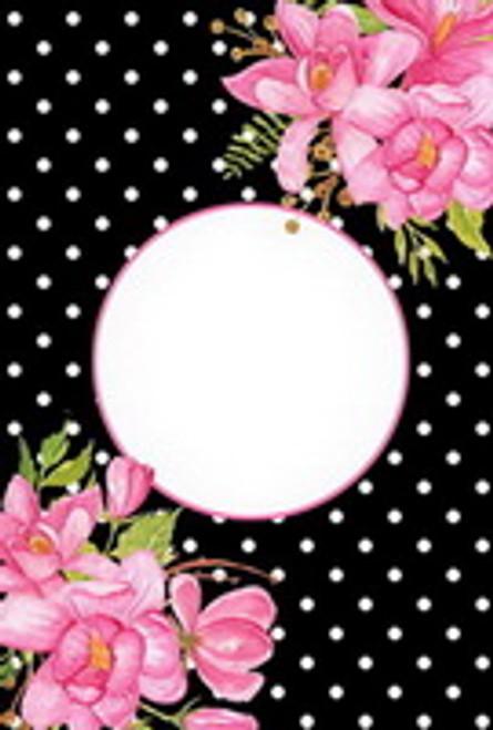 Floral Polka Dot Garden Flag