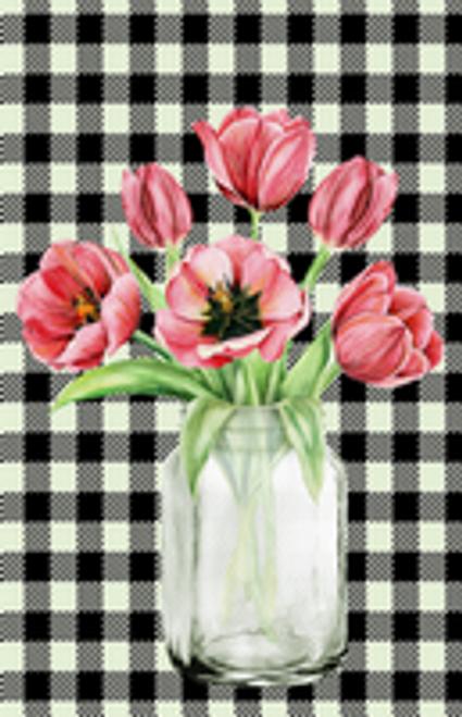 Floral Mason Jar Garden Flag