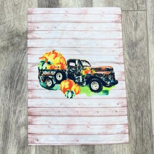Pumpkin Truck Garden Flag
