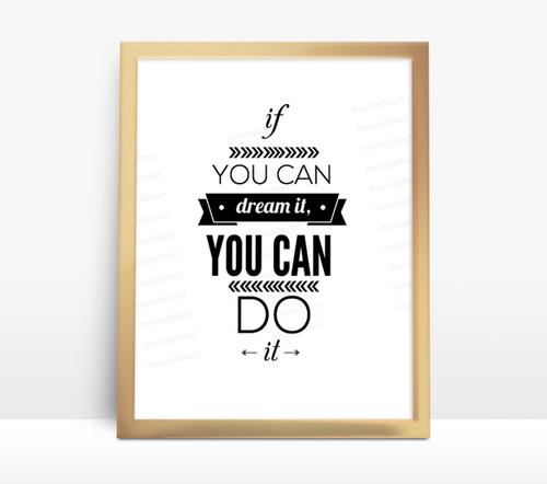 Motivational Water Bottle Digital File - Dream It Do It