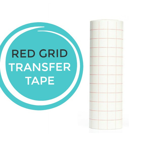 "Red Grid Transfer Tape 12""x10 Yard Roll"