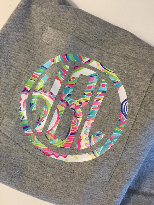 Customer applied Lilly Heat Transfer Vinyl to a T Shirt: Style C-HTV