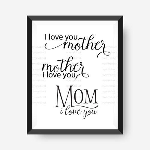 Mom Love Digital File Pack