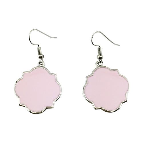 Moroccan Earrings: Pink