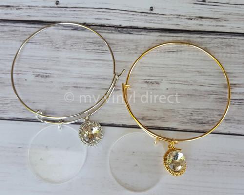 Dangle Gem Wire Bracelet