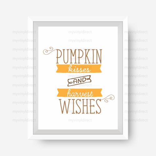 Pumpkin Kisses Harvest Wishes Digital File Pack