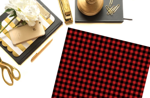 Red & Black Buffalo Plaid Vinyl