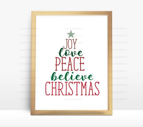 Christmas Word Tree Digital File