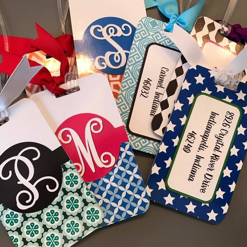 Acrylic Luggage Tag personalized by customer