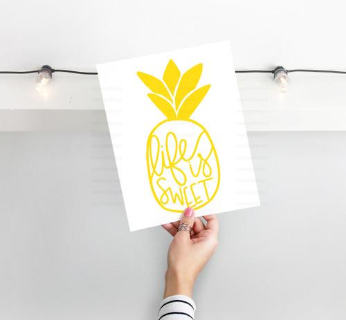 Life Is Sweet Pineapple Design Digital Cutting File
