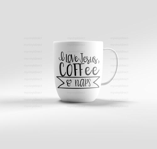 Jesus, Coffee, Naps Digital Cutting File