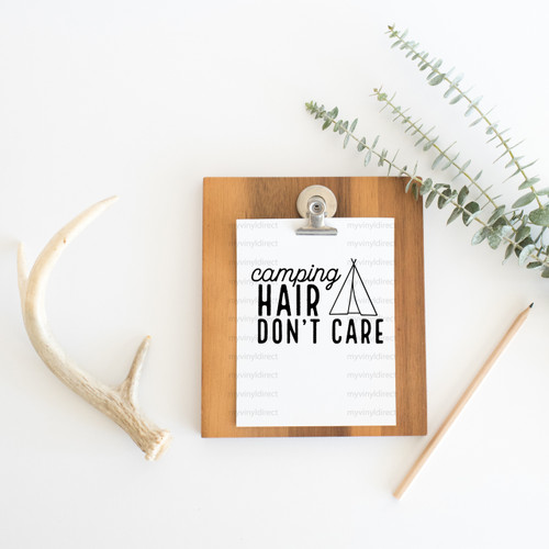 Camping Hair Don't Care Digital Cutting File