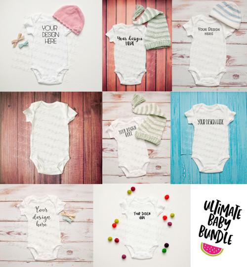 The Ultimate Baby Onesie Mock-Up Bundle