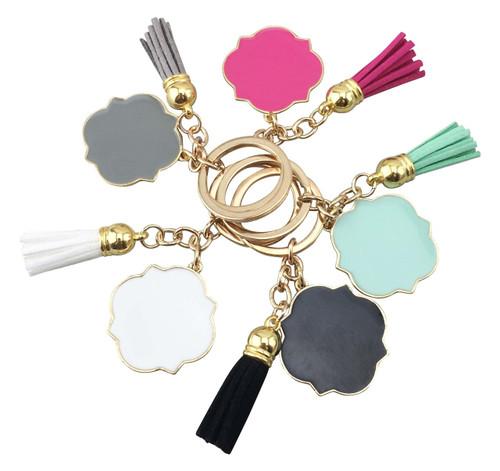 Quatrefoil Tassel Key Chain