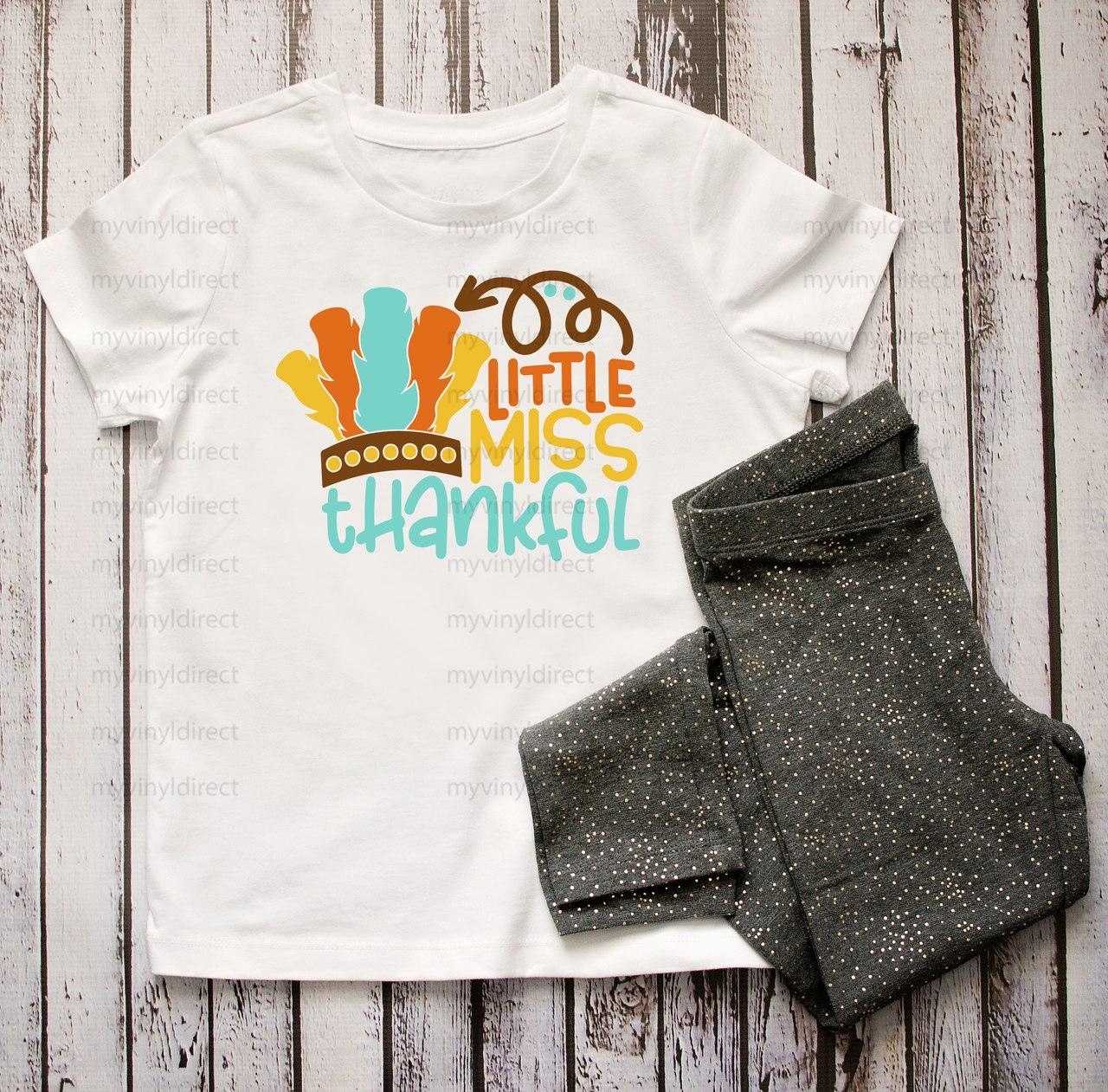 Little Miss Thankful | Cotton Transfer